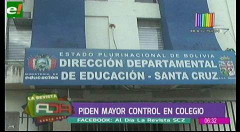 Padres piden mayor control en colegio donde venden droga