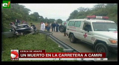Hombre fallece en grave accidente en carretera a Camiri