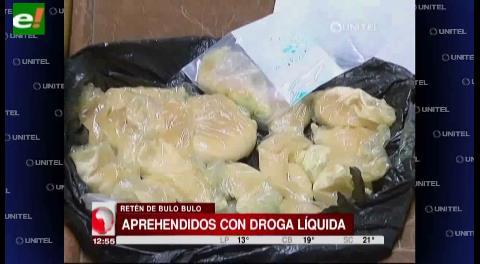 Detienen a cinco personas en Bulo Bulo en posesión de droga líquida