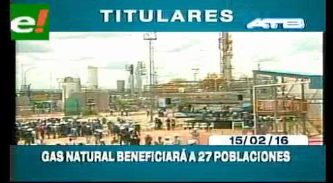 Titulares de TV: Gas natural en Rio Grande beneficiará a 27 poblaciones en el país