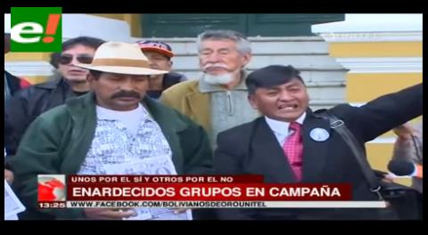 Campañas subidas de tono por el Sí y el No en la plaza Murillo