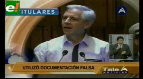 Titulares de TV: Linera llamó mentirosa a Gabriela Zapata y aseguró que el presidente Morales fue engañado
