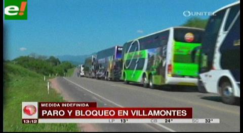 Paro y bloqueo en Villamontes cierra paso a Yacuiba