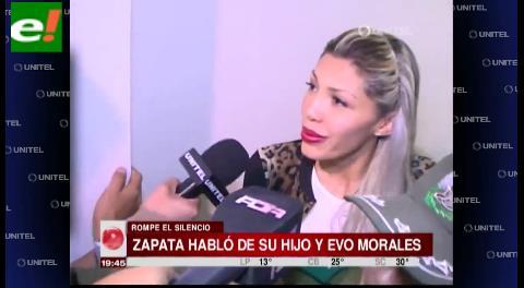 Gabriela Zapata rompió el silencio