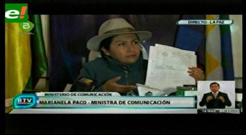 Video. Ministra Paco pone en duda que Zapata haya sido menor de edad cuando concibió un hijo con Evo