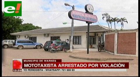 Mototaxista arrestado por violación