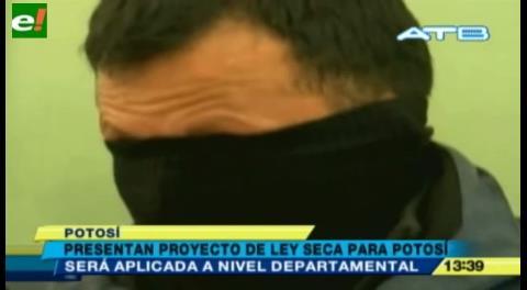 Presentan proyecto de Ley Seca en Potosí para reducir el consumo de bebidas alcohólicas