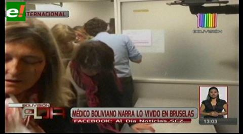 Médico boliviano narra lo vivido en Bruselas