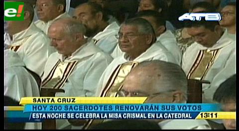 200 sacerdotes renovarán sus votos en la Misa Crismal en la Catedral