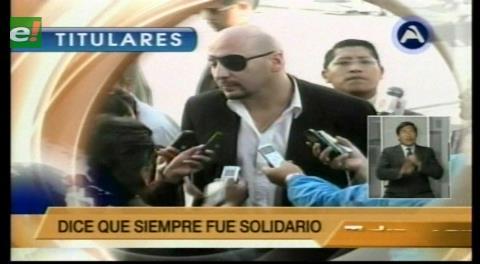 Titulares de TV: Defensor asegura que dinero que entregó a discapacitados es de su bolsillo