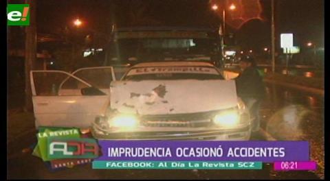 Suman los accidentes de tránsito por imprudencia