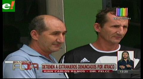 Presentan dos presuntos atracadores de nacionalidad brasileña