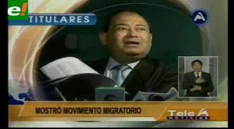 Titulares de TV: Ministro Romero dice que supuesto hijo de Zapata y Morales no salió del país