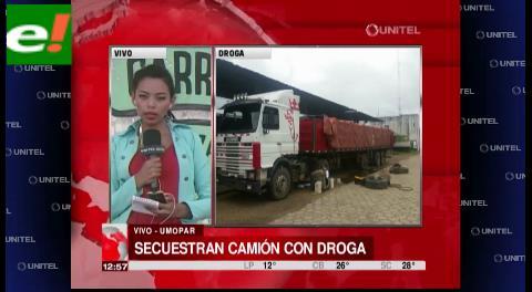 Decomisan camión con droga en la doble vía La Guardia