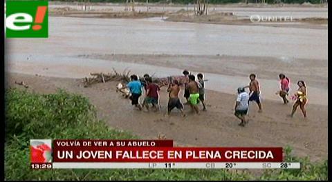 Joven fallece ahogado en crecida de río