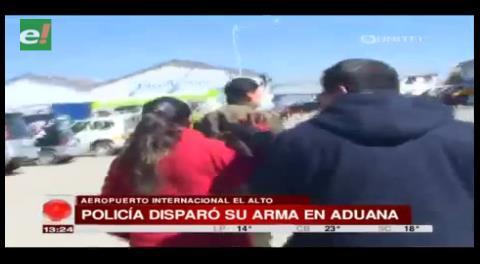 Policía que disparó en Aduana mandó mensaje a su esposa antes del hecho