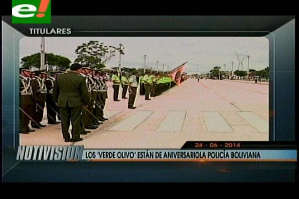 Titulares: Policía boliviana celebra 188 años