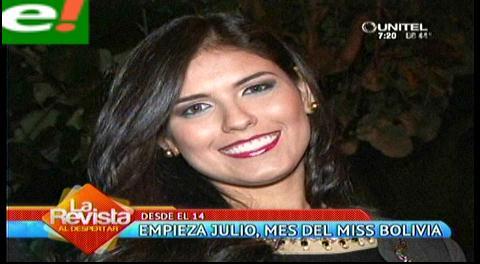 Julio el mes del Miss Bolivia 2014
