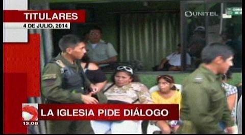 Titulares: Iglesia católica pide diálogo entre el Gobierno y la Policía