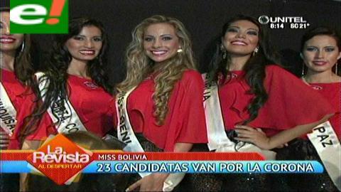Miss Bolivia 2014: Presentan oficialmente a las 23 candidatas