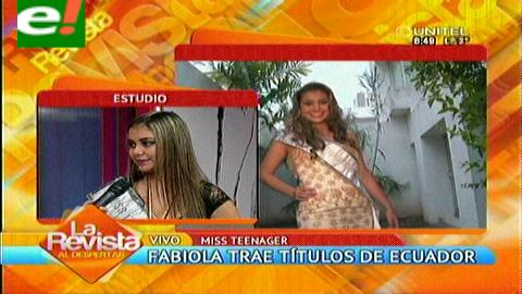 Fabiola Ortíz gana el Miss Teenager Internacional
