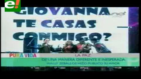 Wally Zeballos y Giovanna Chávez se casarán a fin de año