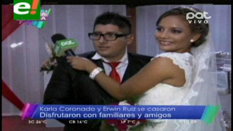 Erwin Ruiz(Musculito) y Karla Coronado se casaron