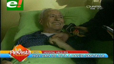 David Santalla recibirá su alta médica