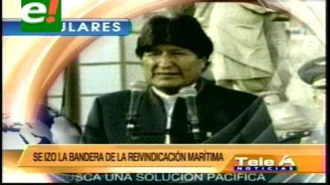 Titulares de TV: Morales afirmó que si Chile desconoce la competencia de La Haya, está desconociendo la justicia internacional