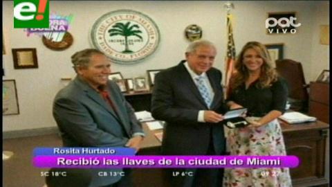 """Rosita Hurtado recibió """"Las llaves de la ciudad de Miami"""""""