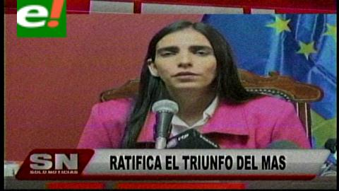 Titulares de TV: Gabriela Montaño ratificó el triunfo del MAS en el Beni