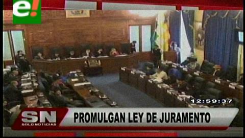 Titulares de TV: Senado promulga Ley que autoriza al Presidente tomar el juramento a los Gobernadores electos