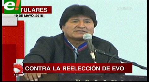 Titulares de TV: Autoridades cruceñas rechazan reelección de Morales
