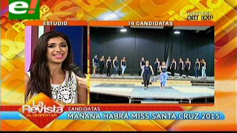 Mañana eligen a Miss Santa Cruz 2015