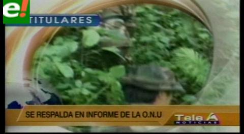 Titulares de TV: Gobierno rechaza informe de EEUU que establece que Venezuela y Bolivia incumplieron en la lucha antidroga