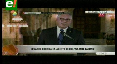 Rodríguez Veltzé: Es una victoria inicial porque seguiremos en La Haya