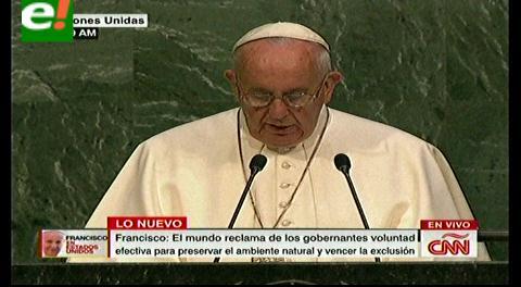El Papa en la ONU: «Cualquier daño al ambiente es un daño a la humanidad»