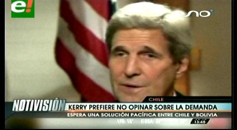 EEUU. John Kerry espera que se resuelva el diferendo marítimo