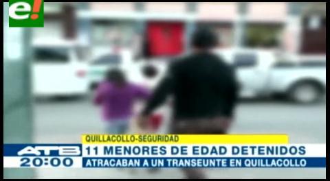 Cochabamba. 11 menores son detenidos acusados de robo agravado