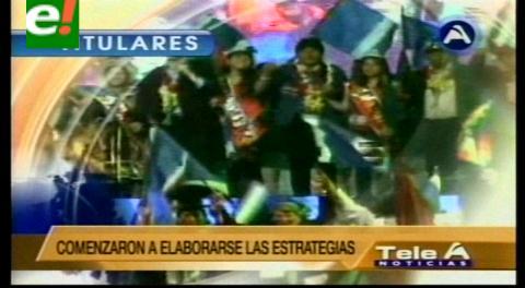 Titulares de TV: Oficialismo y oposición se preparan para la campaña por el Si y el No a la reelección de Evo
