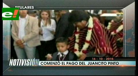 Titulares de TV: Miles de estudiantes cobran el bono Juancito Pinto en Bolivia