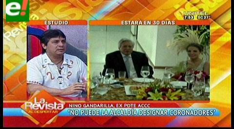 """Gandarilla: """"La Alcaldía no puede designar a dedo a los coronadores del Carnaval cruceño"""""""