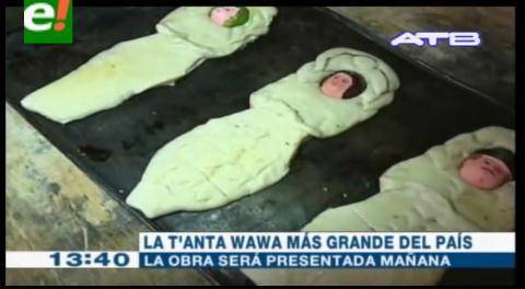 La Paz. Presentarán la T'anta Wawa más grande del país