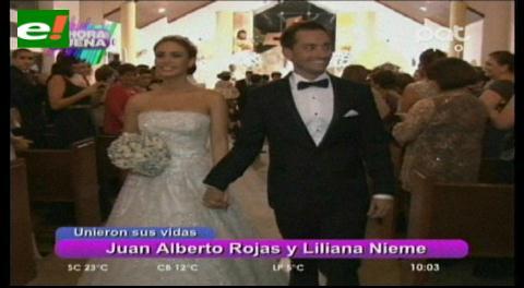 Liliana Nieme y Juan Alberto Rojas contrajeron nupcias