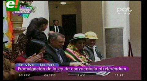 Gobierno promulga Ley de Convocatoria a Referéndum del 21 de febrero