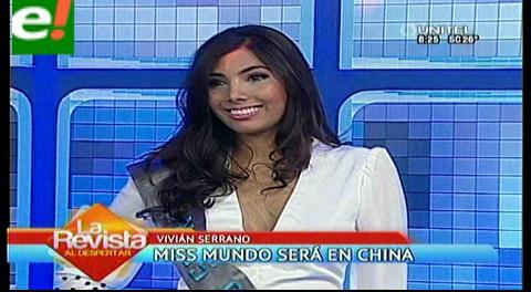Vivian Serrano se alista para el Miss Mundo 2015