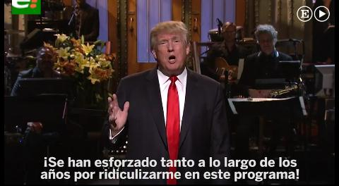 Donald Trump bate récords con su monólogo en Saturday Night Live