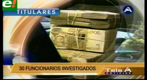 Titulares de TV: Intervención a Ecobol detecta un daño económico al Estado de Bs. 100 millones