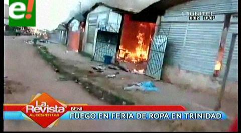 Beni. Incendio en Trinidad deja al menos tres heridos