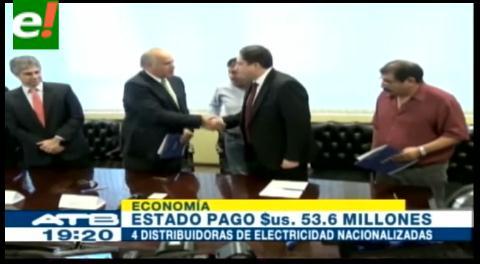Estado boliviano firma con Iberdrola y Paz Holdings acuerdos de indemnización por $us 53,6 millones